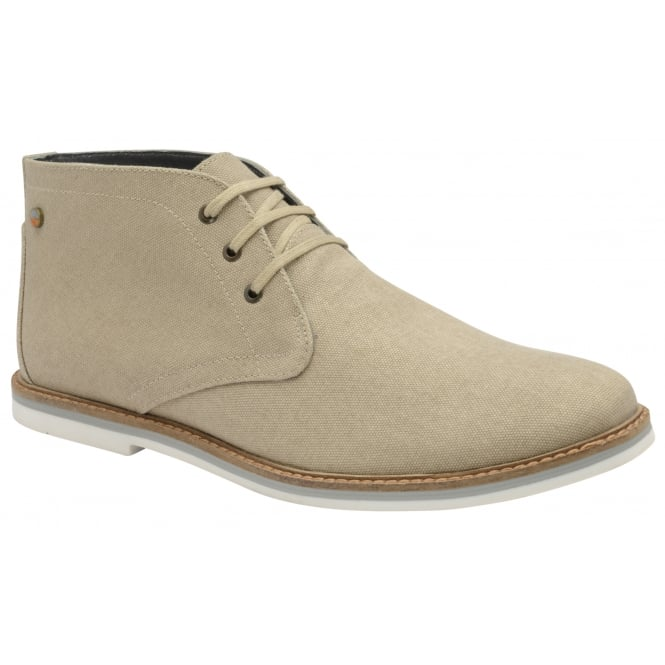 Beige Truro Canvas Lace Up Boot | Frank Wright