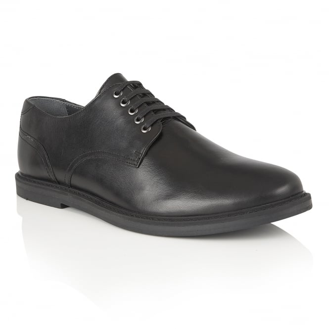 Black Alton Leather Derby Shoe | Frank Wright
