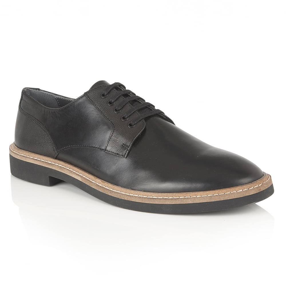 Black Banff Leather Derby Shoe | Frank Wright