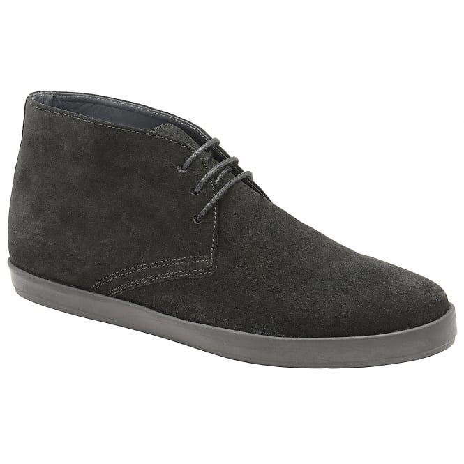Black Bronco Suede Derby Boot | Frank Wright