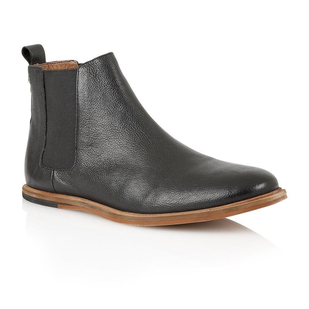 Black Burns Leather Chelsea Boot | Frank Wright