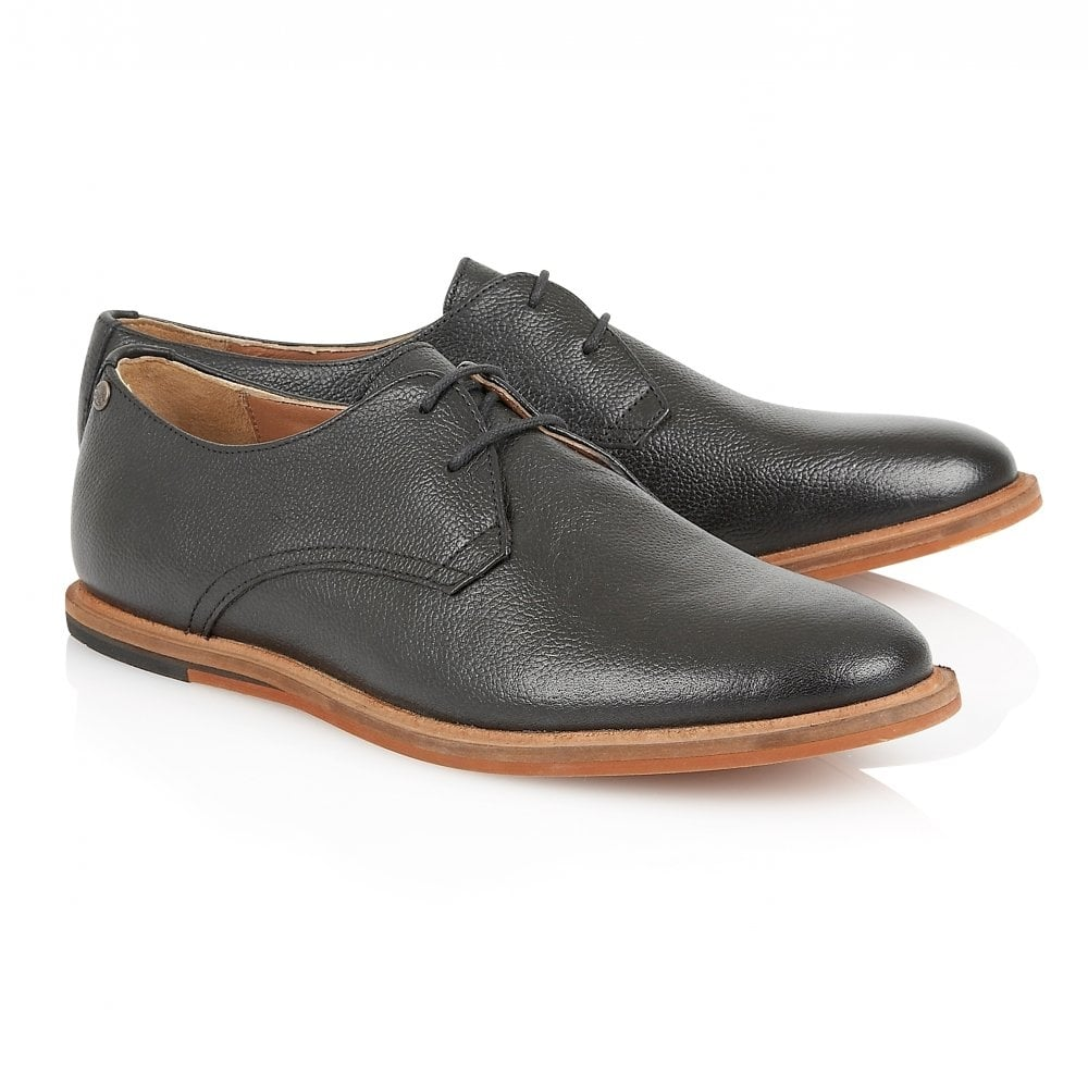 Black Busby Leather Derby Shoe | Frank Wright