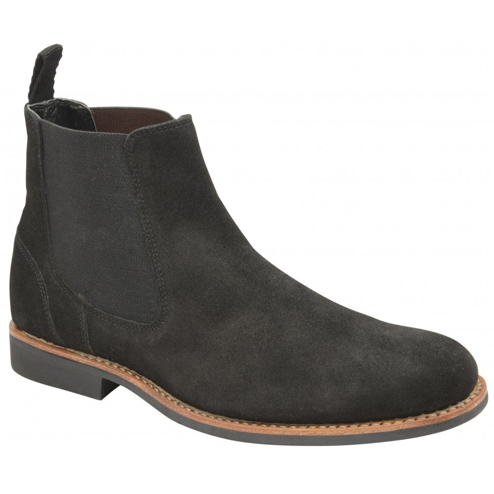 0dd76247da22 Buy men s black suede Frank Wright Hopper Chelsea boot online