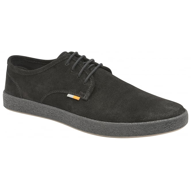 Black Lomond Suede Casual Shoe | Frank Wright