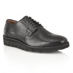 Black Manfred Leather Derby Shoe | Frank Wright