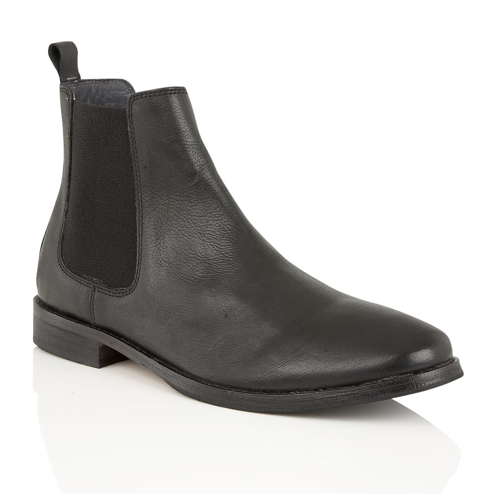 Buy men s Frank Wright Omar Black Leather Chelsea Boots online 9fe06d882a
