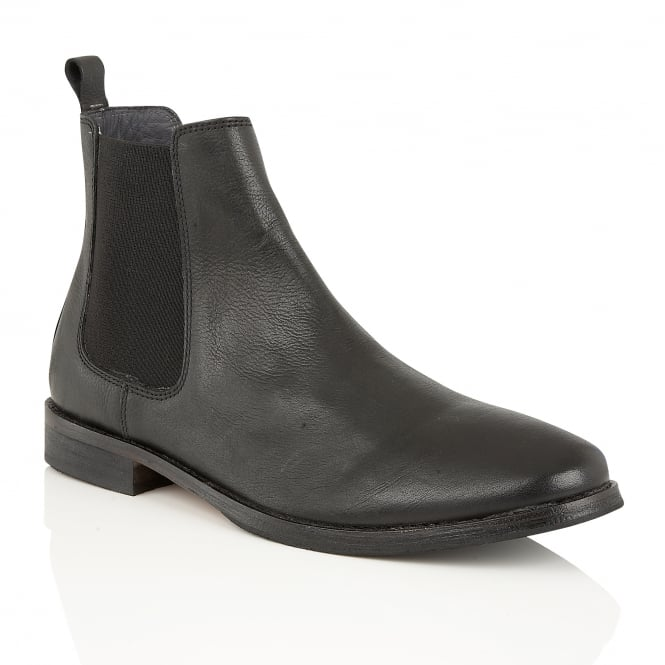 Black Omar Leather Chelsea Boot | Frank Wright