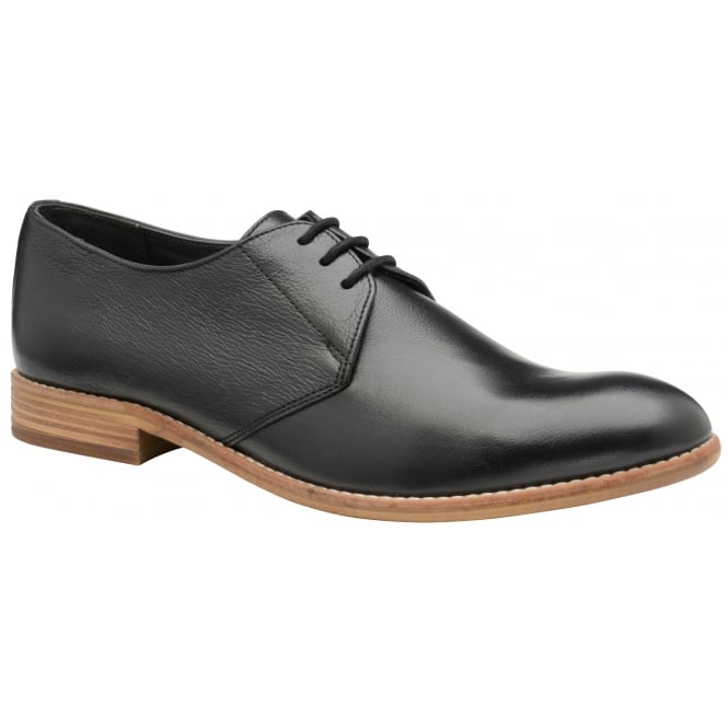 Black Pitt Leather Derby Shoe | Frank Wright