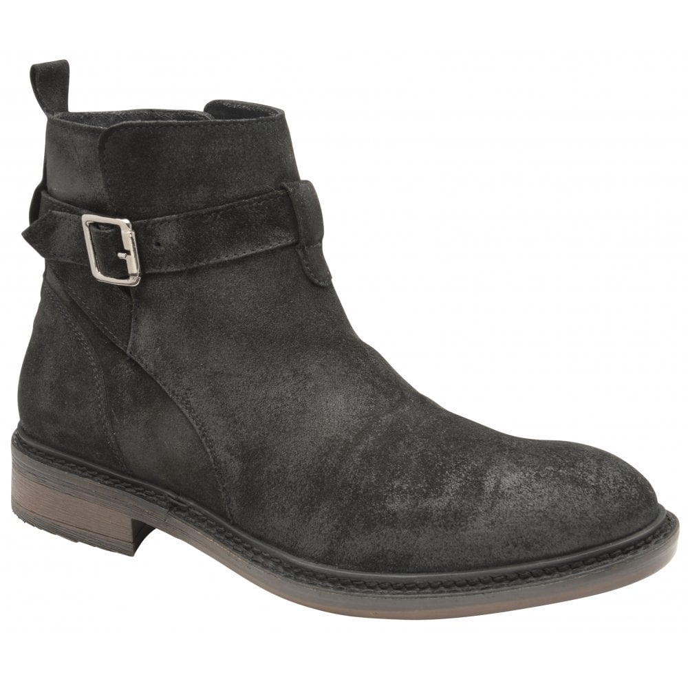 Wright Selby Oiled Ankle Suede Frank Black Boot UHABqwap