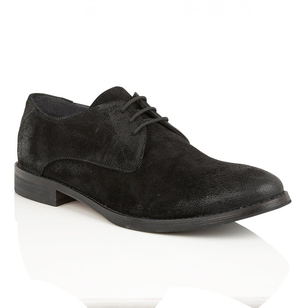 Black Stringer Leather Derby Shoe | Frank Wright