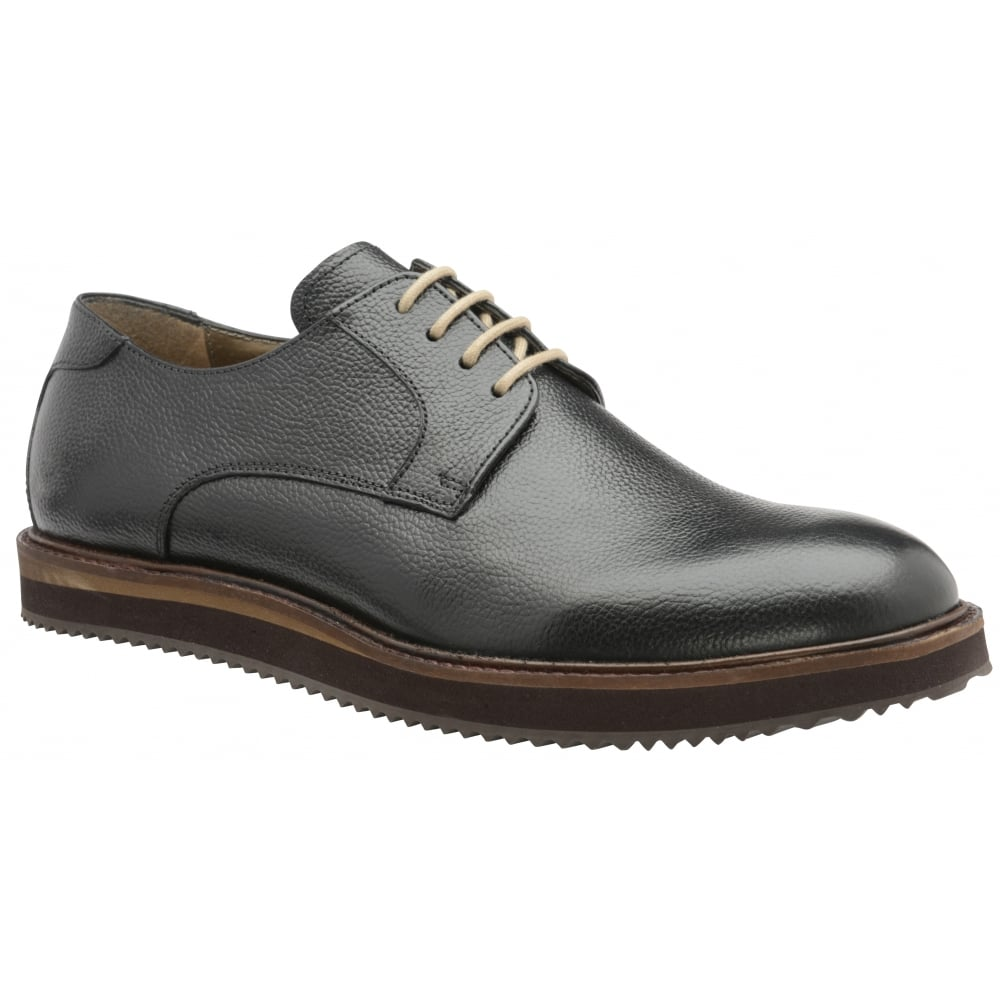 Derby Shoes In Black Leather - Black Frank Wright