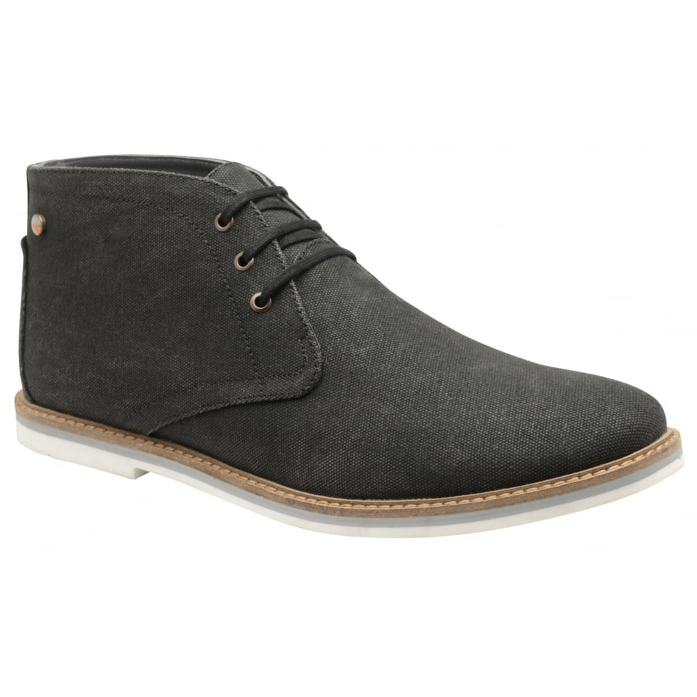 Black Truro Canvas Derby Boot | Frank Wright