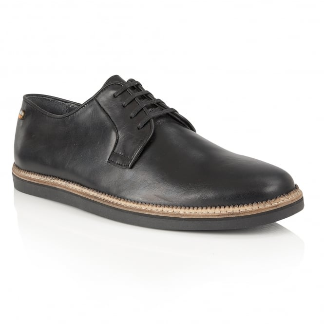 Black Turpin Leather Shoe | Frank Wright
