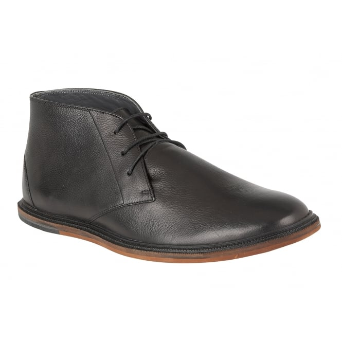Black Walker Polo Leather Lace Up Boot | Frank Wright