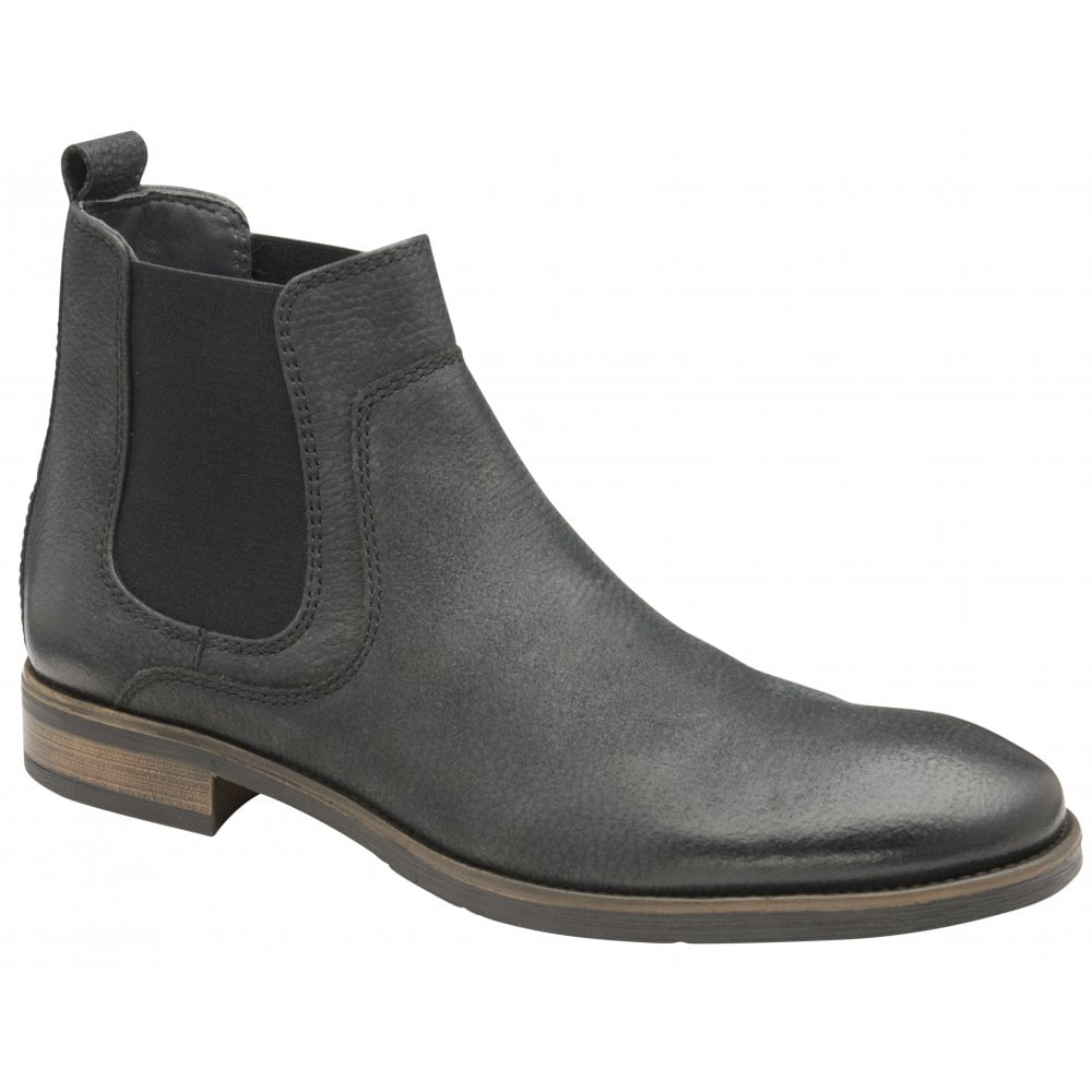 Buy men s black leather Frank Wright Willow II Chelsea boot online b8ef3e5944