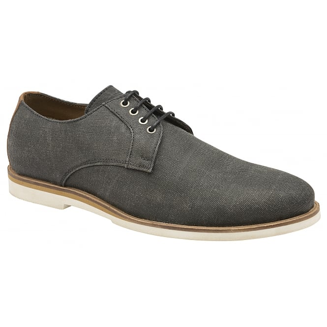 Black Young Canvas Derby Shoe | Frank Wright