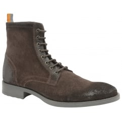 Brown Birch Suede Lace Up Boot | Frank Wright