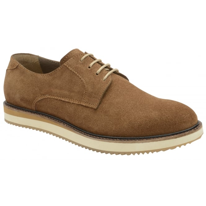 Caramel Tom Suede Derby Shoe | Frank Wright