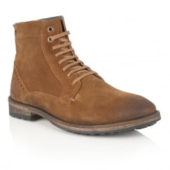 Acton Rust Suede Ankle Lace Up Boot