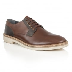 Banff Brown Grain Leather Lace-Up Shoe