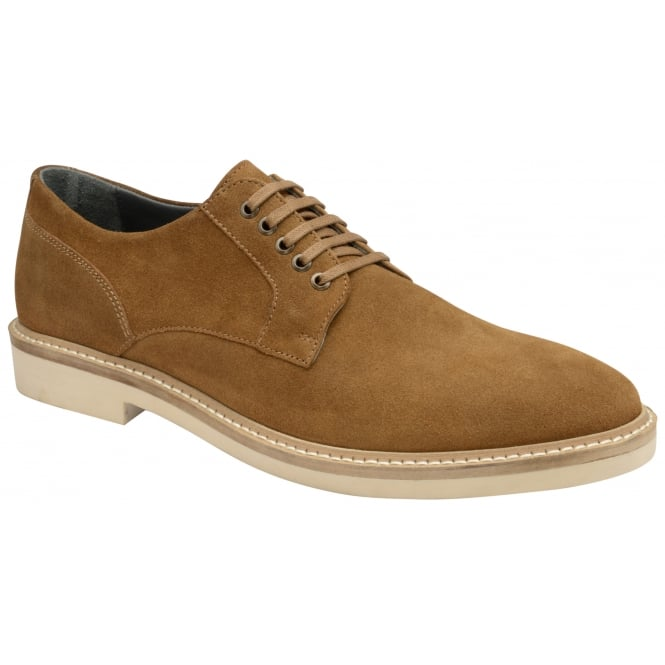 Frank Wright Banff Tobacco Suede Lace-Up Shoe
