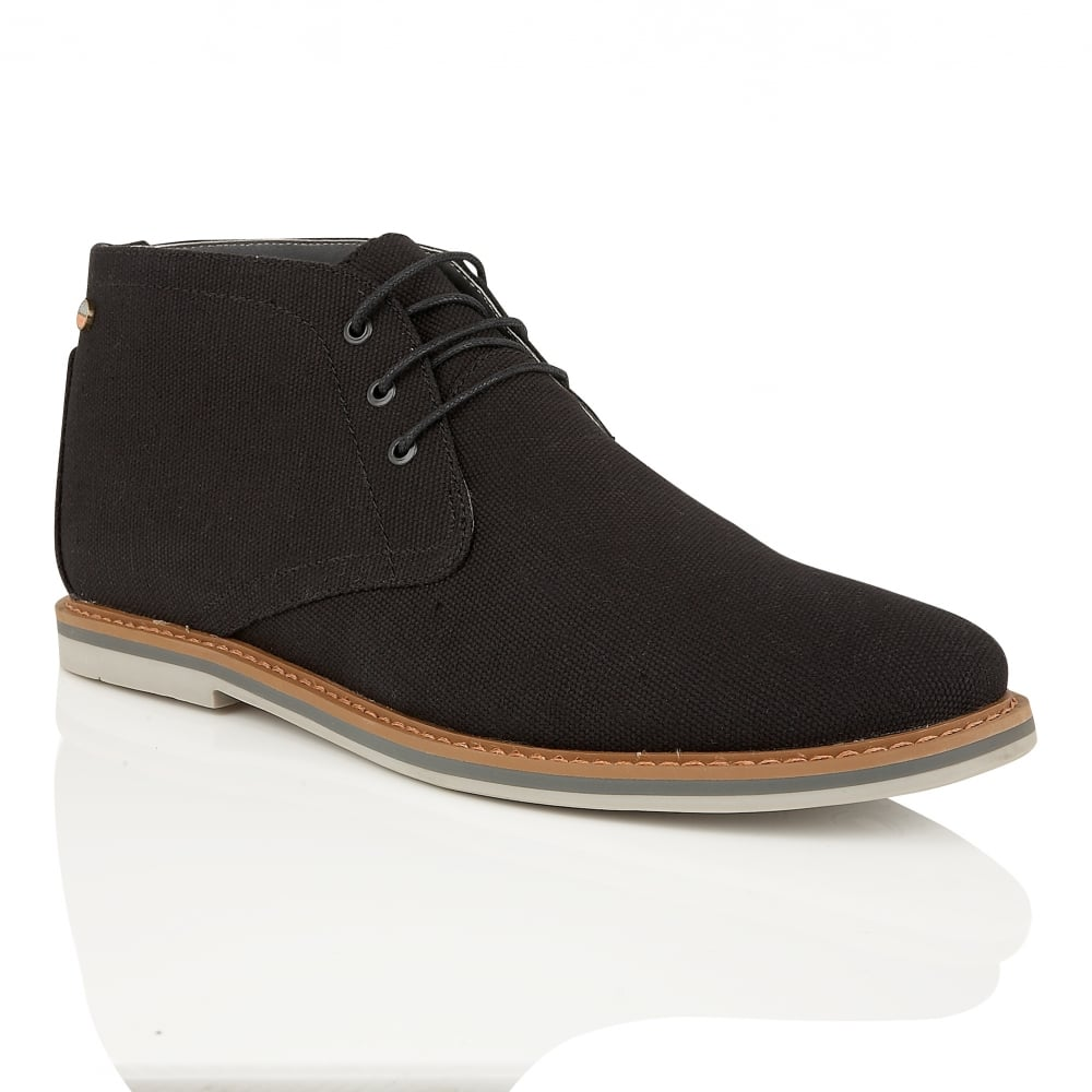 Buy Menu0026#39;s Frank Wright Barrow Black Canvas Boot Online