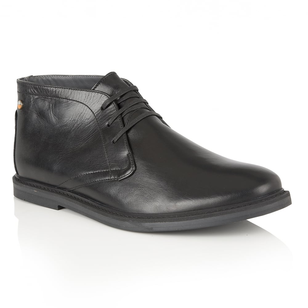 Buy Mens Frank Wright Bath Black Leather Lace up Boot Online