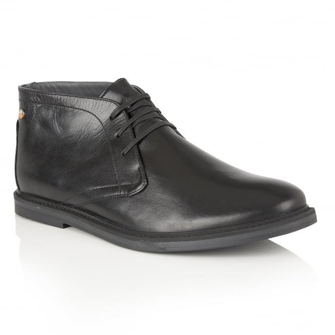 Frank Wright Bath Black Leather Lace-up Boot