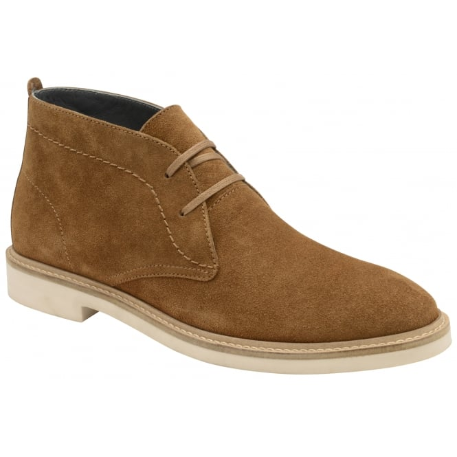 Frank Wright Bowmore Tobacco Suede Lace-up Boot