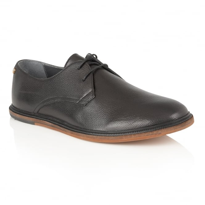 Frank Wright Burley Black Leather Lace-Up Derby Shoe