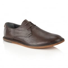 Burley Dark Brown Leather Lace-Up Derby Shoe