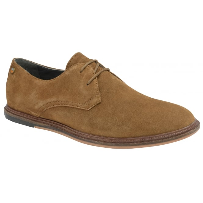 Frank Wright Burley Tobacco Suede Lace-Up Derby Shoe