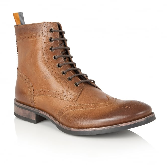 Frank Wright Cypress Tan Leather Ankle Lace Up Boot