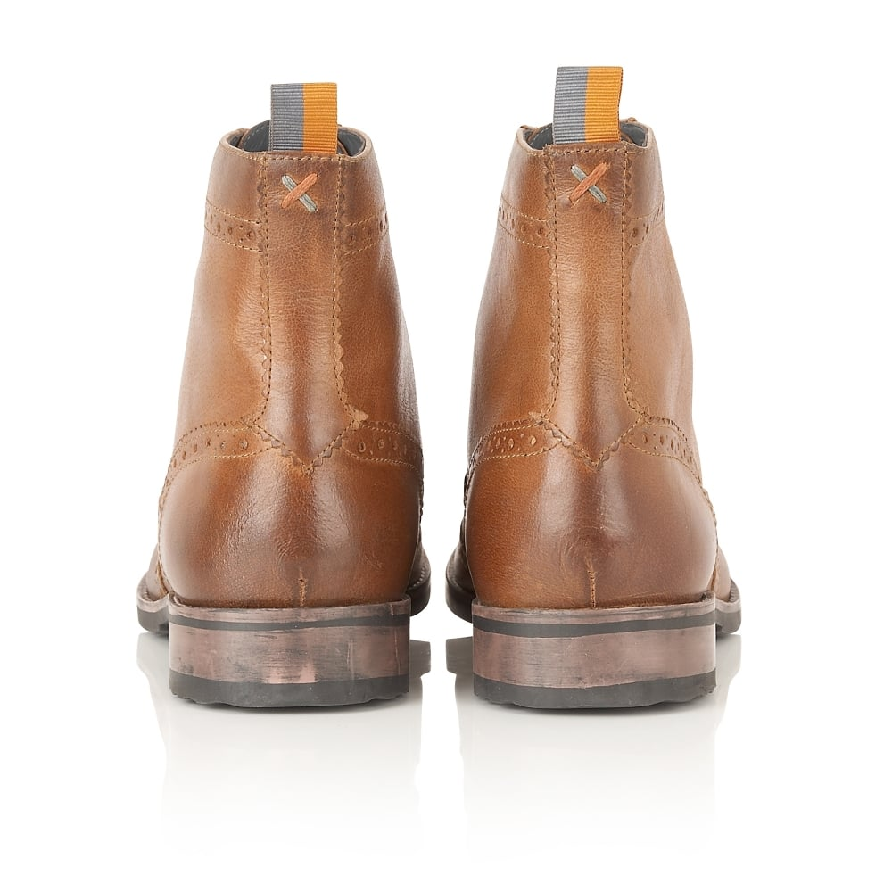 Buy men's Frank Wright Cypress Tan Leather Ankle Boot Online
