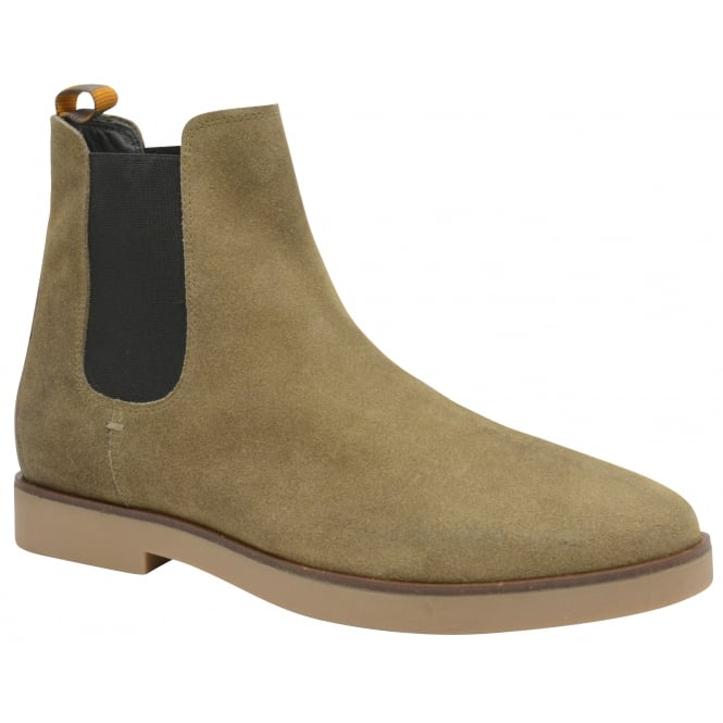 Frank Wright Dutch Almond Oiled Suede Chelsea Boot