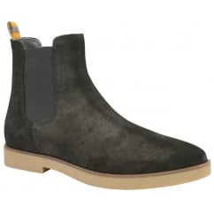 Dutch Black Oiled Suede Chelsea Boot