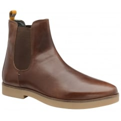 Dutch Brunette Oiled Suede Chelsea Boot
