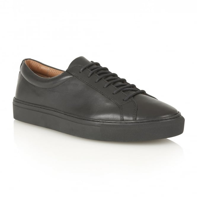 Frank Wright Eddie Black Leather Cup Sole Sneaker