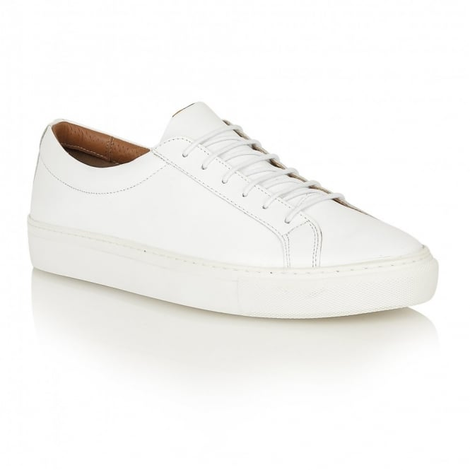Frank Wright Eddie White Leather Cup Sole Sneaker
