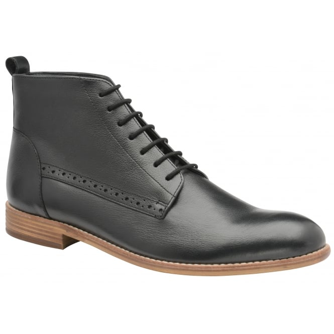 Frank Wright Eden Black Leather Boot