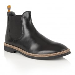 Hazelburn Black Leather Chelsea Boot