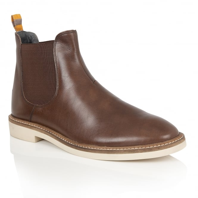 Frank Wright Hazelburn Brown Leather Chelsea Boot