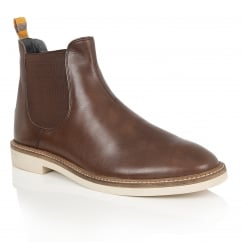 Hazelburn Brown Leather Chelsea Boot