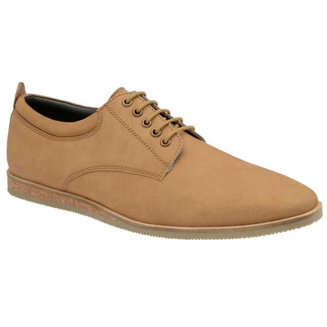 Frank Wright Kane Tan Milled Leather Lace-up Shoe