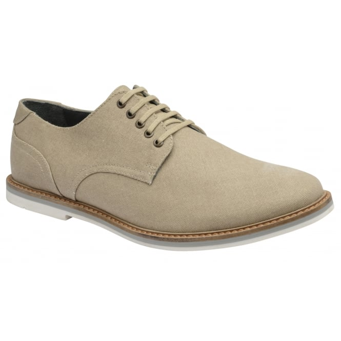 Frank Wright Leek Beige Canvas Derby Shoe