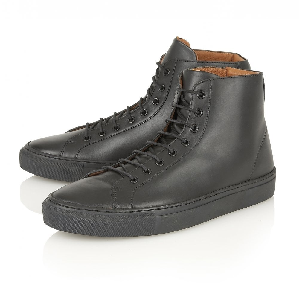 e8767044137e6 Buy men s Frank Wright Logan Black Leather High Top Sneaker online