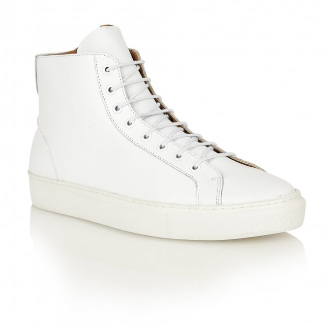 Frank Wright Logan White Leather High Top Sneaker