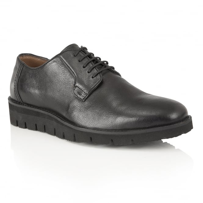 Frank Wright Manfred Black Leather Derby Shoe