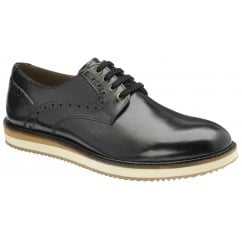 Marvin Black Leather Brogue Shoe