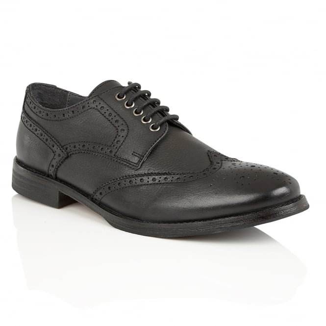Frank Wright Merc Black Leather Brogue Derby Shoe